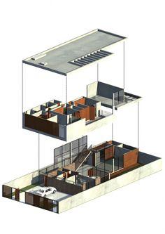 isométrica Vila Madalena House / Drucker Arquitetura