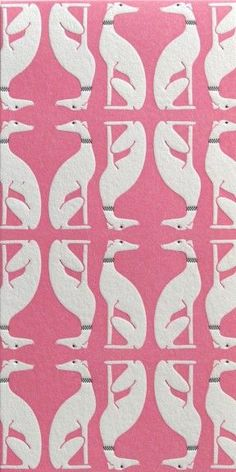 Pink and white art deco greyhound/whippet print Surface Pattern, Pattern Art, Surface Design, Pattern Design, Dog Pattern, Of Wallpaper, Pattern Wallpaper, Pretty Patterns, Color Patterns