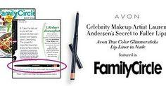 Avon Celebrity MUA Lauren Andersen s True Color Glimmersticks Lip Liner in Nude in Family Circle Magazine #AvonRep