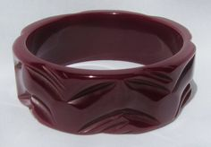 Vintage Bakelite Carved Bangle Bracelet In A by CaliGirlieGirl