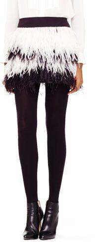 Club Monaco Alexus Feather Skirt on shopstyle.com
