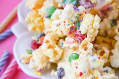 Birthday Cake Popcorn - not sure about this one but definitely going to have to try it!