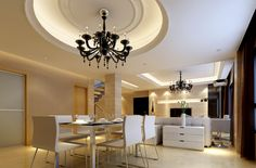 sweet dining room decorating ideas with round false ceiling designs modern
