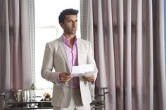 """Rafael Solano (Justin Baldoni ) on theCW's """"Jane the Virgin"""". >> There's something to be said about quality tailoring / clothing. It might be tempting to skimp and go for the cheaper stuff, but quality ALWAYS stands out! Jane The Virgin Rafael, Jane And Rafael, Rafael Solano, Justin Baldoni, Are You Not Entertained, Twin Brothers, New Shows, Baby Daddy, When Us"""
