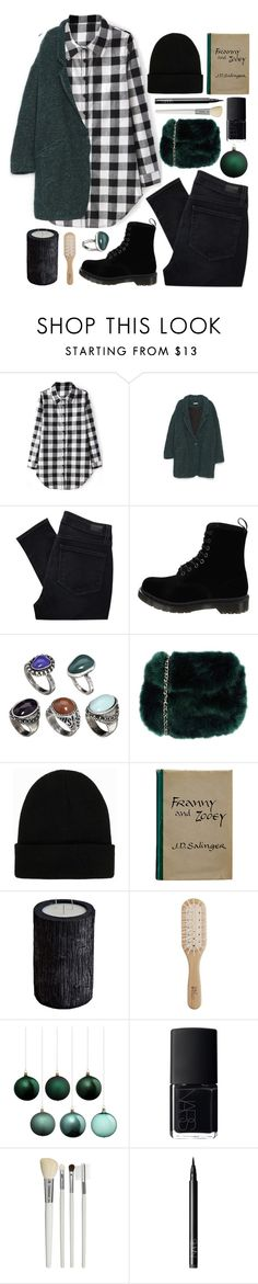 """""""Rockin' Around the Christmas tree"""" by brigitta-bodoki ❤ liked on Polyvore featuring By Zoe, Paige Denim, Dr. Martens, ASOS, Atelier Fixdesign, NLY Accessories, Zooey, Vascolari, Philip Kingsley and NARS Cosmetics"""