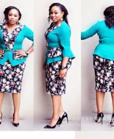 African clothes women work tops skirts 2 pieces set suits outfit dresses floral skirts suit African Wear Dresses, Latest African Fashion Dresses, African Clothes, Office Dresses For Women, Dresses For Work, Dress Design Patterns, Shweshwe Dresses, African American Fashion, Classy Work Outfits