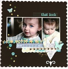 that look #papercraft #scrapbook #layout