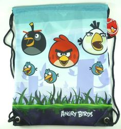 Cute Angry Birds School Drawstring Backpack, « Delay Gifts