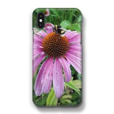 Bumblebee on Eastern Purple Coneflower Phone Case by Christine aka stine1 (stine1) from $19.00 | miPic Unique Iphone Cases, Smartphone, Purple