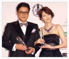 吉瀬美智子 @kagayakurecipe 5時間5時間前 陣内孝則さんと『ベストフォーマリスト賞』を頂きました✨ 初めてお逢いしましたがとっても ユーモアがあって素敵な方です!