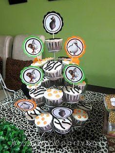 Razzle Dazzle Party Box: Theme Birthday Party: Safari Madagascar