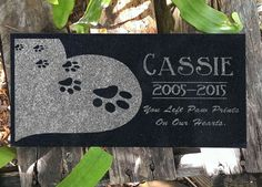 Personalized Pet Grave Marker Heart Paws Headstone Memorial Stone Garden Plaque Custom Engraved for you Dog or Cat Grave Markers in Granite Memorial Stones, Cat Memorial, Pet Grave Markers, Garden Plaques, Special Quotes, Cat Names, Custom Engraving, Have Time, Memories