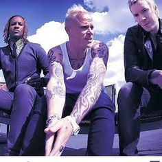 "I'm listening and moving to The Prodigy. ""Champions of London,"" ""Firestarter,"" & ""We Live Forever. Guy Liner, The Music Man, Man Go, Fire Starters, Gorillaz, Rest In Peace, Pop, Heavy Metal, First Love"