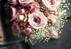 Ramo en tonos rosas con paniculata :: Wedding Flowers by Julia Rose