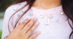 Beads glued on to a normal sweater - MyLifeAsEva
