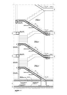 Diseño de Estructuras de Edificación, Industriales y Civiles Interior Architecture Drawing, Stairs Architecture, Architecture Details, Concrete Structure, Building Structure, Steel Structure, Steel Frame Construction, Construction Drawings, Autocad