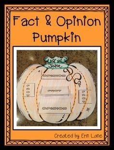 This Fact and Opinion Pumpkins are a FUN, interactive way to teach fact and opinion! They also make an AWESOME bulletin board display during the fall!  Use either a story or a good ol pumpkin to teach the difference between facts and opinions. Then, let students brainstorm and write their own fact and opinions behind each flap on the pumpkin.