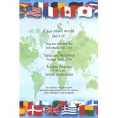 International Flags Party Invitations, 5312