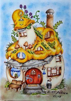 Nice Little Town 4 von Tanya Bogema  Coloriert von Andrea Oswald
