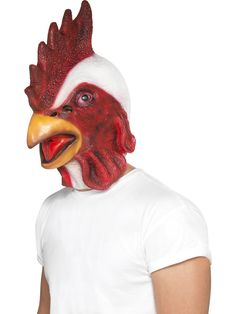 Red and White Chicken Unisex Adult Halloween Full Overhead Mask Costume Accessory - One Size Fancy Dress Accessories, Costume Accessories, Adult Halloween, Halloween Masks, Michael Myers Halloween Costume, Fancy Dress Masks, Farm Fun, Natural Rubber Latex, Look At You