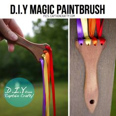 DIY Magic paintbrush - or a magic wand of a small princess