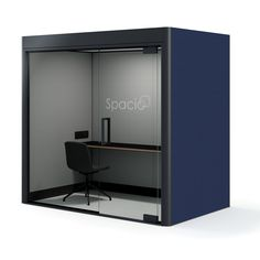 Spacio Work Pod is an acoustic retreat for staff to carry out focused work away from office noise. Spacio Work Pods are ideal for open plan offices and co-working environments for 1 to 2 users. Creative Office Space, Office Space Design, Workplace Design, Home Office Space, Office Interior Design, We Work Office, Smart Office, Space Interiors, Office Interiors