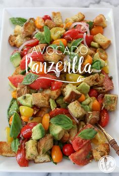 Avocado Panzanella  Celebrate the summer harvest with this delicious dish!  Get the RECIPE:http://inspiredbycharm.com/2016/08/avocado-panzanella.html?utm_campaign=coschedule&utm_source=pinterest&utm_medium=Michael%20Wurm%20Jr.%20%7C%20Inspired%20by%20Charm&utm_content=Avocado%20Panzanella