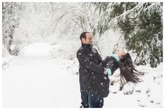 couples photo shoot snow woods - Google Search