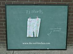 the red kitchen: KCW Day 2: PJ Shorts