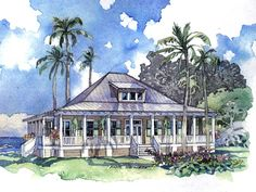 Looking for the best house plans? Check out the Port Royal Coastal Cottage plan from Southern Living. Coastal House Plans, Southern Living House Plans, Beach House Plans, Country House Plans, Dream House Plans, Small House Plans, Florida House Plans, Beach Cottage Style, Coastal Cottage