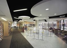 Outdated space was reinvented as a technology-rich, user-friendly library at Morton College. The cyber café creates a true campus destination.