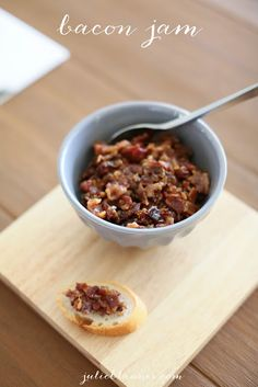 Bacon Jam Recipe | spread on a grilled cheese, burger, sliced baguette and more!