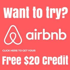 Get FREE 20$ credit.Click the image and get yours. Airbnb credit / Airbnb discount / Travel on a budget / Budget traveling / Money saving / Free credit / Travel with Airbnb