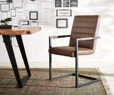 DELIFE Freischwinger Newcastle Braun Vintage Eisen Schwarz, Esszimmerstühle Jetzt bestellen unter: https://moebel.ladendirekt.de/kueche-und-esszimmer/stuehle-und-hocker/freischwinger/?uid=f8b4e2eb-dd90-561f-a54d-8b526b6c3f16&utm_source=pinterest&utm_medium=pin&utm_campaign=boards #freischwinger #kueche #esszimmer #hocker #stuehle