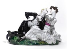 "Soviet porcelain, ""The Lovers,"" State Porcelain Manufactory 1920's"