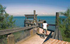 Lignano Sabbiadoro, Italy. Discover a sea promenade for... bikers!