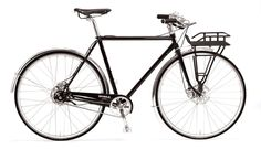 Shinola The Runwell Bicycle. Classic French-style city bike with handcrafted frame and Shimano internal hub