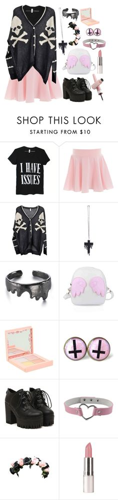 """Pastel goth~ 4"" by akiko-pastel-princess ❤ liked on Polyvore featuring moda, Full Circle, POPbeauty e Barry M"