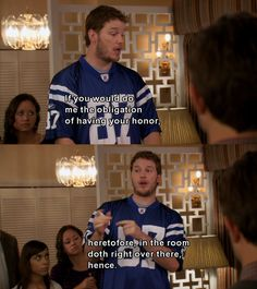 Andy Dwyer announcing his wedding to April ~ Parks and Recreation (1 of 2)