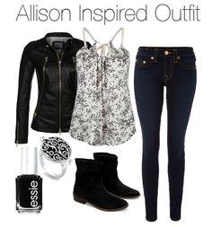 Full Tilt ribbon shirt / Genuine leather jacket, $505 / True Religion mid-rise jeans, $335 / Zara leather cowboy boots / Black onyx ring, $15 / Essie nail polish