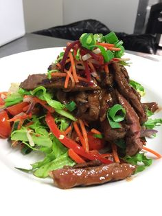 Char-Grilled BBQ Beef Asian Salad. http://www.acrossthewaves.com/?p=dining