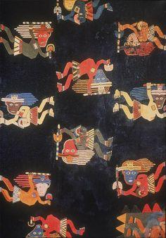 Detalle del manto Paracas -hecho por los años 600 a.c.- JH