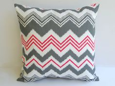 red & gray pillow