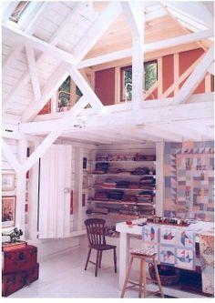 Roderick James Architects - painted Douglas fir studio in Devon