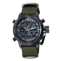 GIMTO Outdoor Canvas Analog Digital Watch #shoes, #jewelry, #women, #men, #hats, #watches, #belts