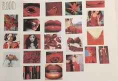 Moodboard kleur rood