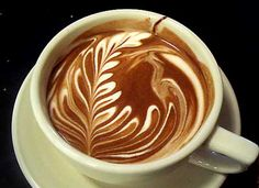 Jazz mocha: Latte arts :)