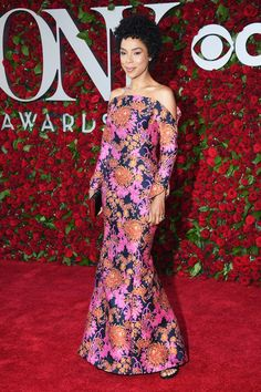 Sophie Okonedo and more celebrity looks from the Tony Awards 2016 red carpet.