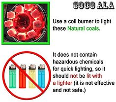 Coco Ala Charcoal Natural Coconut Hookah Shisha Coals, 108 Pieces