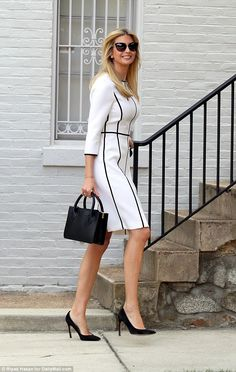 Ivanka Trump heads to the office on her father's birthday